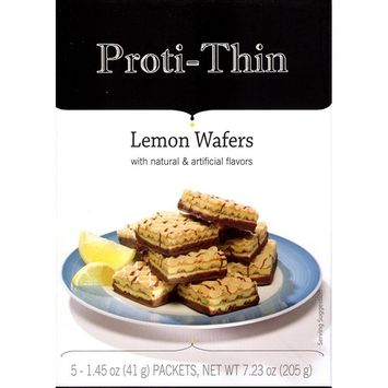 Proti-Thin - Protein Wafer Squares - Lemon - Diet Wafer Squares - 5 Count [Lemon]