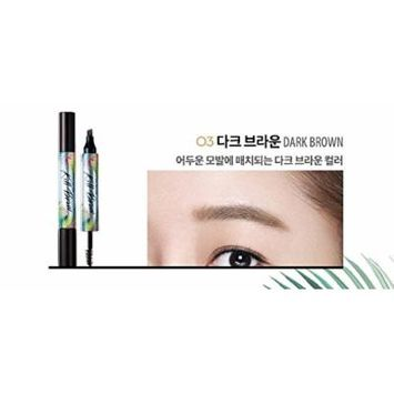 CLIO Tinted Tattoo Kill Brow [17S Limited] Tatto Pen 2.8g/Brow Mascara 4.5g + Fix Mist (03.Dark Brown)
