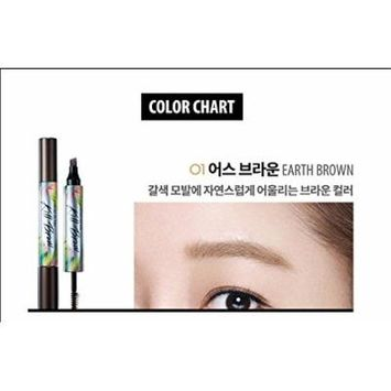 CLIO Tinted Tattoo Kill Brow [17S Limited] Tatto Pen 2.8g/Brow Mascara 4.5g + Fix Mist (01.Earth Brown)
