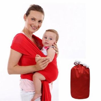Baby Carrier Sling For Newborns Soft Infant Wrap Breathable Wrap Hipseat Breastfeed Birth Comfortable Nursing Cover ( Red )