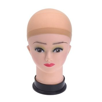 eBoot 4 Pack Nylon and Mesh Wig Cap, Neutral Nude Beige and Black