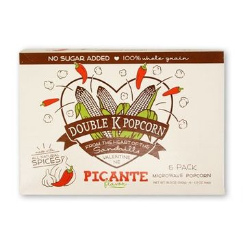 Double K Popcorn Picante Flavored Microwave Popcorn 6 Pack