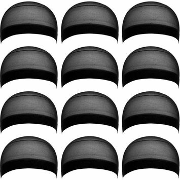 eBoot 12 Pack Nylon Wig Caps for Women and Men