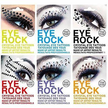 Luxforia eye rock eyeshadow Rhinestone tattoo sticker 6 pack