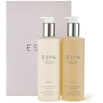 ESPA Ginger and Pink Pepper Handcare Collection