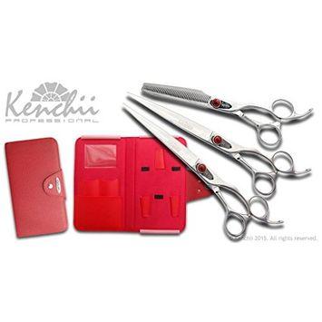 KENCHII Spider KESPI-SET Stainless Steel Scissors Set also available in left