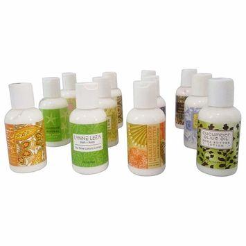 Lynne Leea Botanical Scented Hand Body Lotion Sampler Gift Set of 12-2 ounce Travel Sized Bottles Gift Boxed