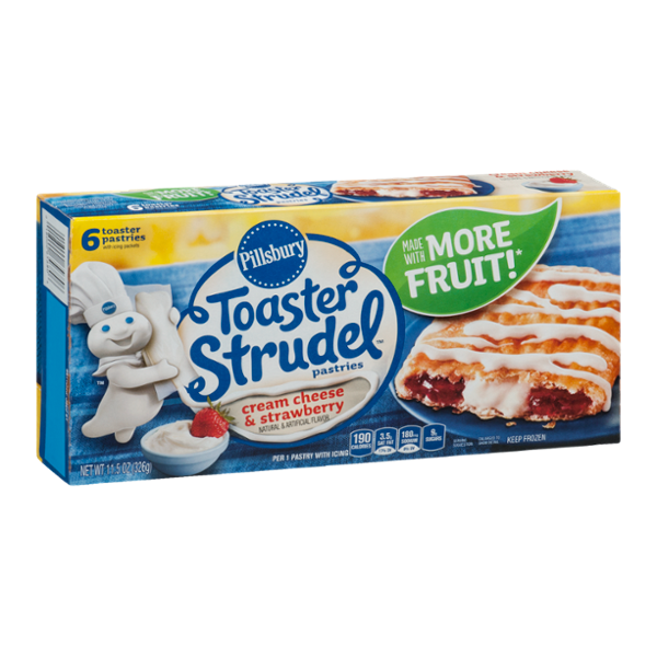 Pillsbury Toaster Strudel Pastries Cream Cheese & Strawberry - 6 CT