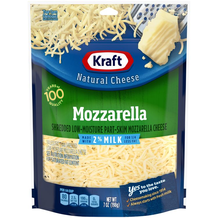 Kraft Shredded Mozzarella Natural Cheese with 2% Milk