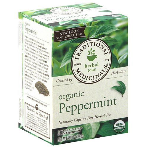 Traditional Medicinals Organic Peppermint Herbal Tea Bags, 0.85 oz, 16 count, (Pack of 6)