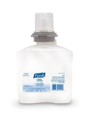 Purell Advanced Hand Sanitizer 1200 mL Alcohol (Ethyl) Gel Dispenser Refill Bottle, Case of 4, 4 Pack (16 Total)