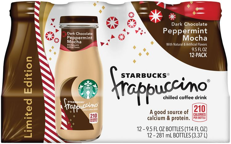 Starbucks® Dark Chocolate Peppermint Mocha Frappuccino® Coffee Drink 12 Pack