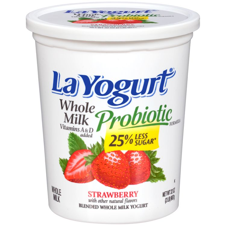 La Yogurt® Probiotic Strawberry Blended Whole Milk Yogurt
