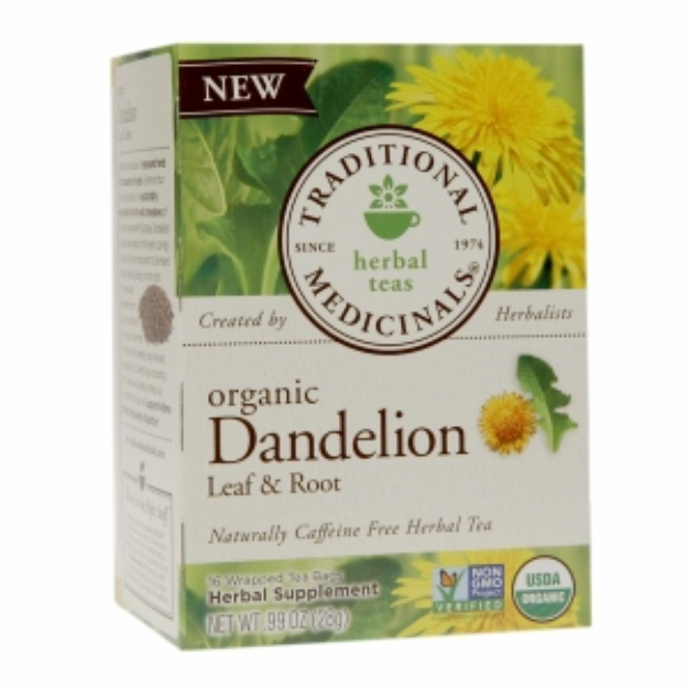 Traditional Medicinals Herbal Tea Organic Dandelion Leaf & Root 16 Tea Bags