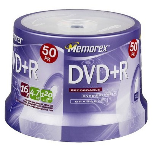 Memorex 4.7GB 50-pk. 16X DVD+R Spindle