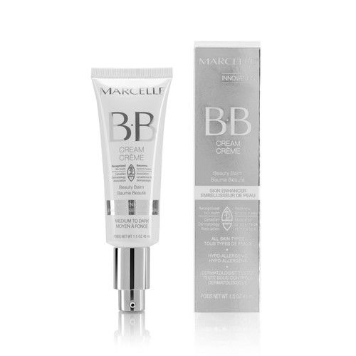 Marcelle BB Cream Beauty Balm, Medium to Dark, Hypoallergenic and Fragrance-Free, 1.5 fl oz