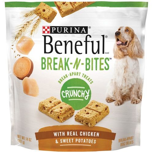 Purina Beneful Break-N-Bites Crunchy With Real Chicken & Sweet Potatoes Dog Treats - (4) 14 oz. Pouches