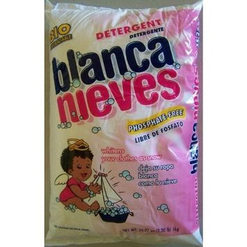 Blanca Nieves Bianca Nieves Phosphate Free Powder Laundry Detergent Biodegradable 2.2 lb 1 kg (Pack of 2) Whitens Your Clothes White as Snow