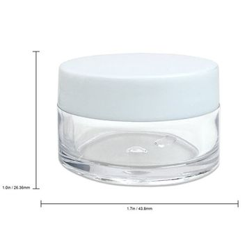 Beauticom 20 gram/20ml Empty Clear Small Round Travel Container Jar Pots with Lids for Make Up Powder, Eyeshadow Pigments, Lotion, Creams, Lip Balm, Lip Gloss, Samples