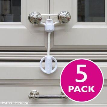 Kiscords EZ-Twist Child Proof Cabinet Latch / 5-Pack White