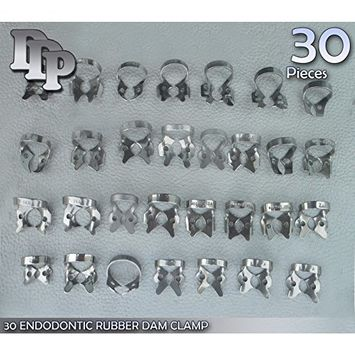 30 Endodontic Rubber DAM Clamp Dental ( 30 Different Kinds