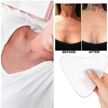 Silicone Anti Wrinkle Eliminate Chest Pads, Alonea Silicone Chest Pads for Decollete and Cleavage Wrinkles Prevention - Reusable Overnight Anti Wrinkle Remover