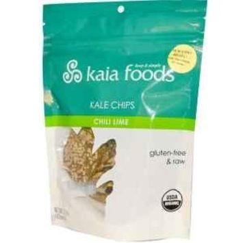 Kaia Foods Kale Chips Chili Lime 2.2 oz Pkg