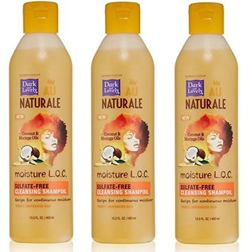 [VALUE PACK OF 3] DARK AND LOVELY AU NAT MOISTURE LOC CLEANSING SHAMPOIL 13.5oz: Beauty