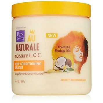 SoftSheen-Carson Dark and Lovely Au Naturale Moisture L.O.C. Deep Conditioning Delight, 14.4 oz by Dark & Lovely