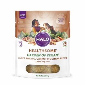 Halo Healthsome Garden of Vegan Sweet Potato, Carrot & Quinoa Recipe Dog Treats 8 oz