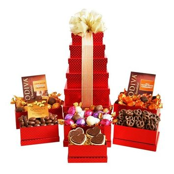Godiva Chocolate Gift Tower by California Delicious