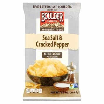 Boulder Canyon Chip Cut Seaslt& Crpppr,6.5 Oz (Pack Of 12)