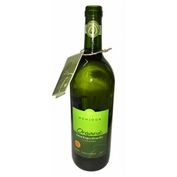 USDA Certified Organic Les Moulins Mahjoub Extra Virgin Olive Oil (1st Cold Pressed) 33.80 FL. oz.