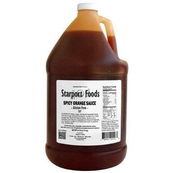 Starport Foods Spicy Orange Sauce - Gluten Free, 1 gallon (NET WT 9.5 lb, 152 oz)