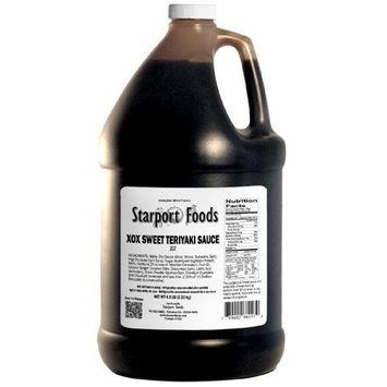 Starport Foods XOX Sweet Teriyaki Sauce, 1/2 gallon (NET WT 4.9 lb, 78 oz)
