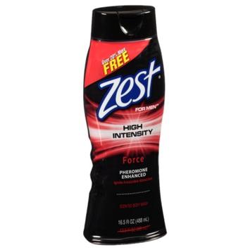 Zest For Men, High Intensity Body Wash, Force, 16.5 fl oz