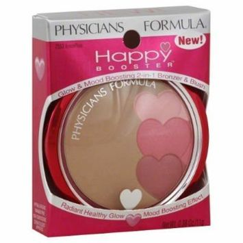Physicians Formula Bronzer & Blush, 2-In-1, Glow & Mood Boosting, Bronze/Rose 7553 0.38 Oz (11 G) (Pack of 2) by Physicians