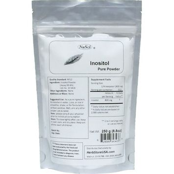 NuSci Inositol Bulk Pure Powder NF12 & FCC Quality Standard (250g (8.8 oz))