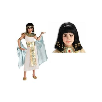 Girls Cleopatra Costume and Wig Set
