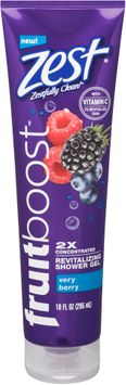 Zest® Fruitboost™ Very Berry 2x Concentrated Revitalizing Shower Gel