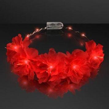 Red Kiss Fairy Flower LED Headband by Blinkee