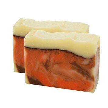 Crackling Cedar Handmade Artisan Luxury Mens Gift Soap Bar 2 Pack by Score Soap