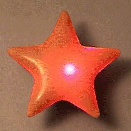 Blinkee Frosted Star Flashing Body Light Lapel Pins