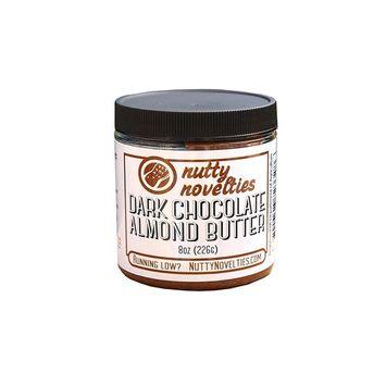 Nutty Novelties Dark Chocolate Almond Butter - High Protein, Sweet Almond Butter - All-Natural, Dark Chocolate Almond Butter Free of Cholesterol & Preservatives - Vegan Almond Butter - 8 Ounces [Dark Chocolate]