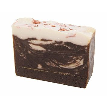 Exfoliating Cocoa Rich Coffee Handmade Artisan Luxury Gift Soap Bar by Score Soap