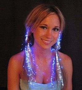 Blinkee Glowbys Fiber Optic Hair Lights Rainbow