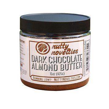 Nutty Novelties Dark Chocolate Almond Butter - High Protein, Sweet Almond Butter - All-Natural, Dark Chocolate Almond Butter Free of Cholesterol & Preservatives - Vegan Almond Butter - 15 Ounces [Dark Chocolate]