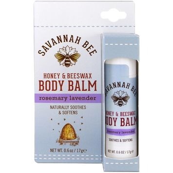 Savannah Bee Honey & Beeswax Body Balm Rosemary Lavender 0.6 oz