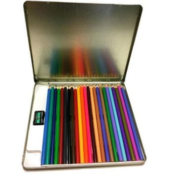 Creative Colors 2280594 Colored Pencils in Tin Case of 24