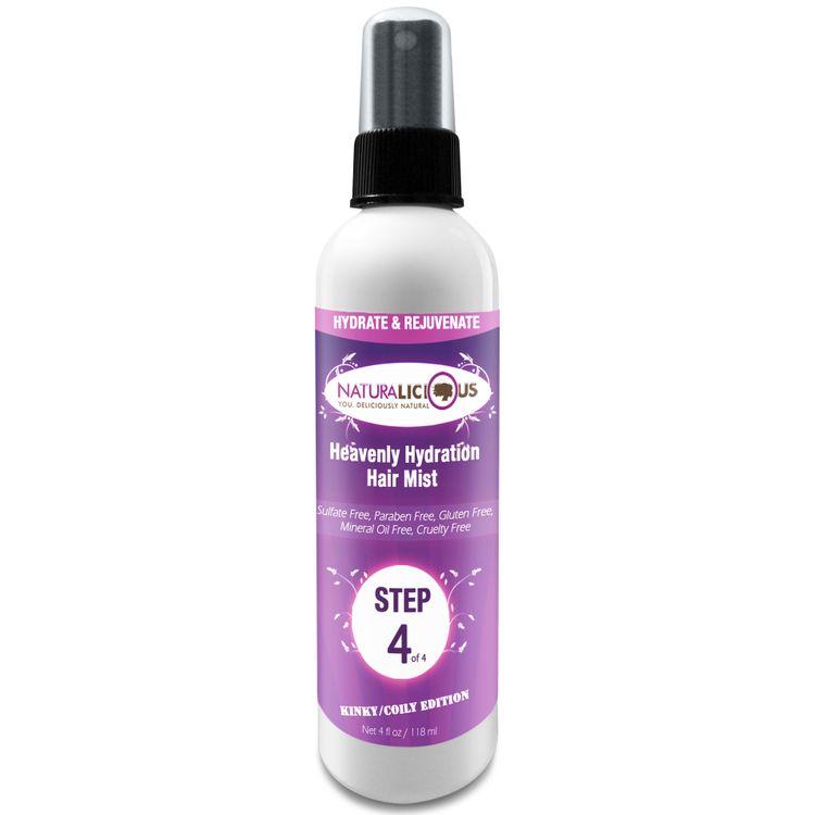 Naturalicious Kinky/Coily Edition: Step 4 Heavenly Hydration Hair Mist